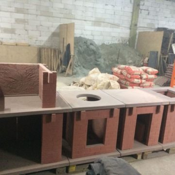 Производство печей барбекю из бетона
