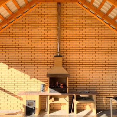 Печь барбекю стол-мойка и печь под казан в наборе